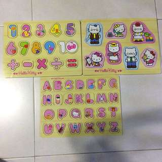Preloved Hello Kitty Wooden Puzzles