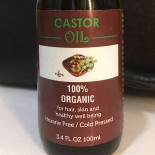 💯% Organic Pure Castor Oil (100ml )