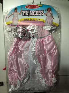 Melissa & Doug princess set dress with wand and tiara