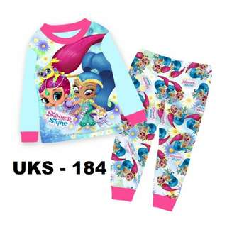 Shimmer & Shine Long Sleeve Pyjamas For (2 Yrs To 7 Yrs)