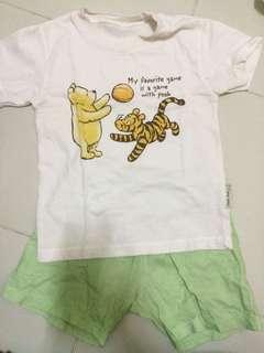Pooh- shorts & shirt