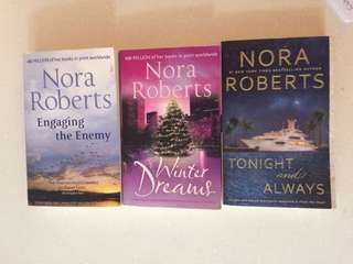 Nora Roberts' fiction novels