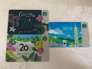 Starbucks Taiwan 20th anniversary and Taipei 101 Card