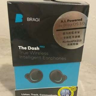 Bragi - The Dash Pro True Wireless Intelligent Earphones - Black