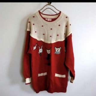 童趣 專櫃 可愛毛衣 長版