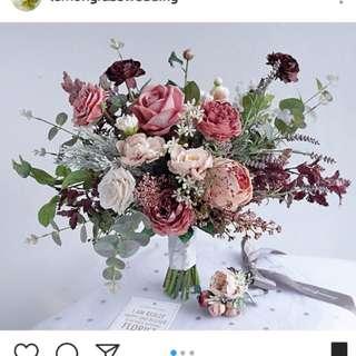 (6月中後交收) Lemongrass 花球 silk flower bouquet