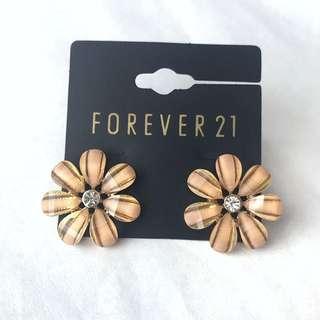 Forever 21 Rose Gold Daisy Earrings