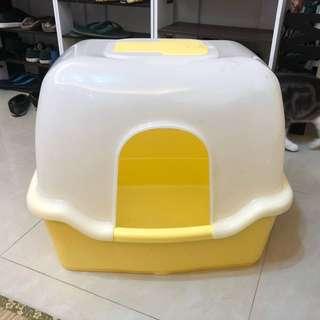 日本 Richell 卡羅方型 _ 大 《胖胖貓專用全罩貓砂盆》