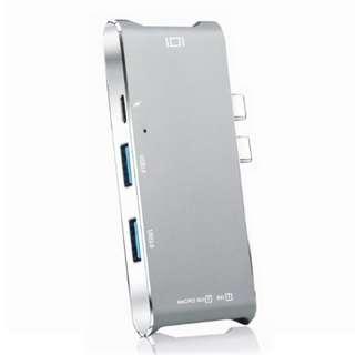 Dual USB-C Type-C Hub with HDMI/PD/USB 3.0/Card Reader - 雙頭Type-c Hub 集線器HDMI 4K - S1416