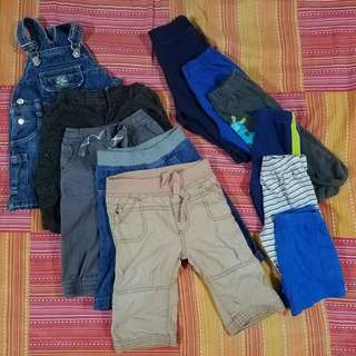 Baby Boy Assorted Pants Jumper and Short 3 to 6M