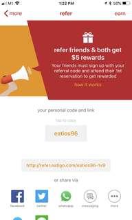 Eatigo app referral code