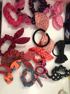 Cute bow hair ties