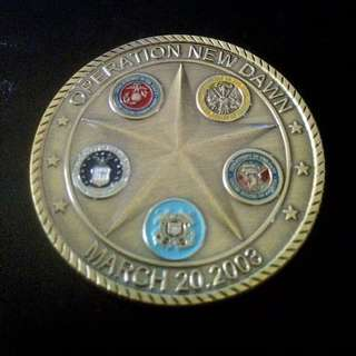 Operation New Dawn Challenge coin USA