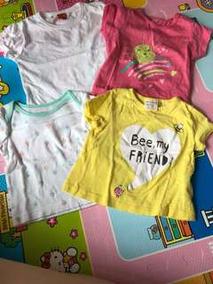 Baby girl tshirts (3-6 months)