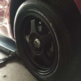 [Price Down!] Spoon style matt black rims 15""