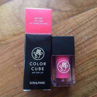 [BN K-BEAUTY] Son & Park Air Tint Lip Cube, Crimson Pink