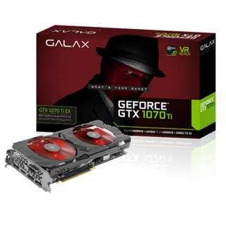 GALAX GeForce® GTX 1070 Ti EX 8GB GDDR5 256-bit DP*3/HDMI/DVI-D