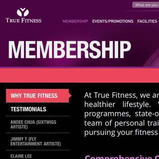 True Fitness Membership till Sep 19