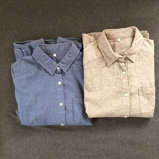 無印良品襯衫組 (size:L)