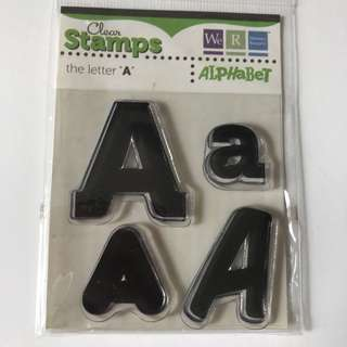 """LETTER """"A"""" CLEAR STAMP"""