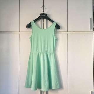 H&M mint green skater dress