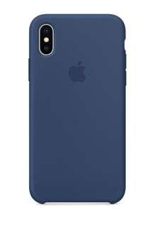 iPhone X 矽膠保護殼 - 鈷藍色