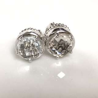 Authentic Cubic Zirconia Stud Earrings