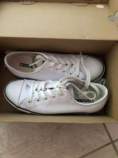 Converse white shoes