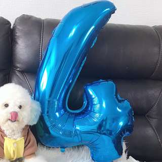 Number 4 inflated balloon