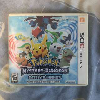 3DS Game, Pokemon Mystery Dungeon Gates to Infinity