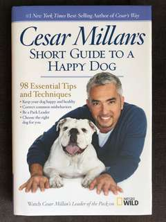 Original autographed by Cesar Millan new short guide to a happy dog