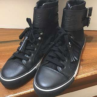 Coach Fizzle Signature Calf High Top Sneakers Shoes