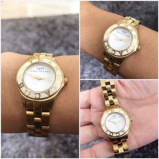 Authentic MARC BY MARC JACOBS GOLD STEEL WATCH