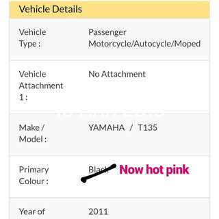 AUG2021 Yamaha Spark T135 Hot Pink (Lady Owner)
