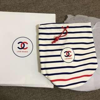 全新Chanel彈性布料索繩袋 化妝包 cosmetic bag