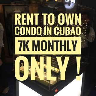RENT TO OWN CONDO IN CUBAO 7K MONTHLY PRESELLING