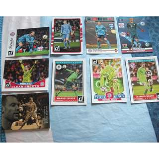 Manuel Neuer Panini trading cards (Lot of 9 cards) for trade/sale
