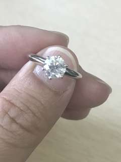 Genuine 1Ct Diamond Ring