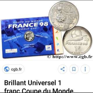 World cup silver coin