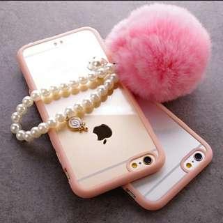 Pearl Furball (white version) phone plug / keychain / women fashion accessories