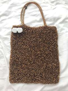 Anteprima brown wire mini tote bag