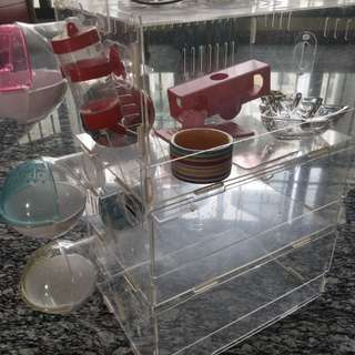 Acrylic Hamster Cage (3-tier XL) with Accessories