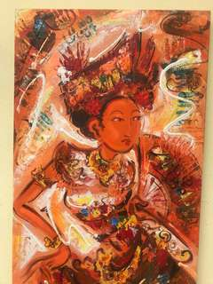 Bali painting oil on canvas