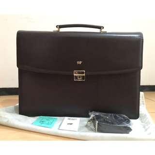 TAS PRIA Kerja Briefcase Vintage Braun Bufflel Original Limited Edition