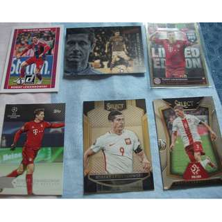 Robert Lewandowski Topps/Panini trading cards (Lot of 6 cards) for trade/sale
