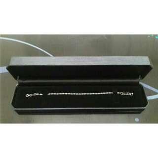 White Gold Bracelet  & Ring
