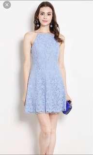 Miranda lace dress dusty blue