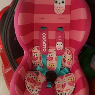 Cosatto car seat for toddler
