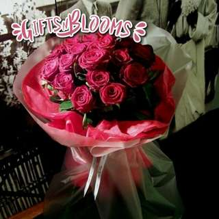 Fresh Flower Bouquet Anniversary Birthday Flower Gifts Graduation Roses Sunfowers Baby Breath -  27556