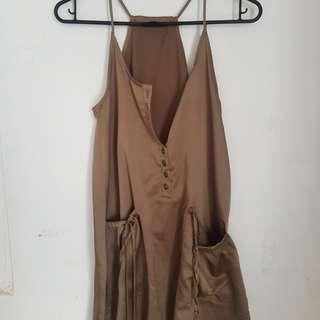 Brown silk singlet